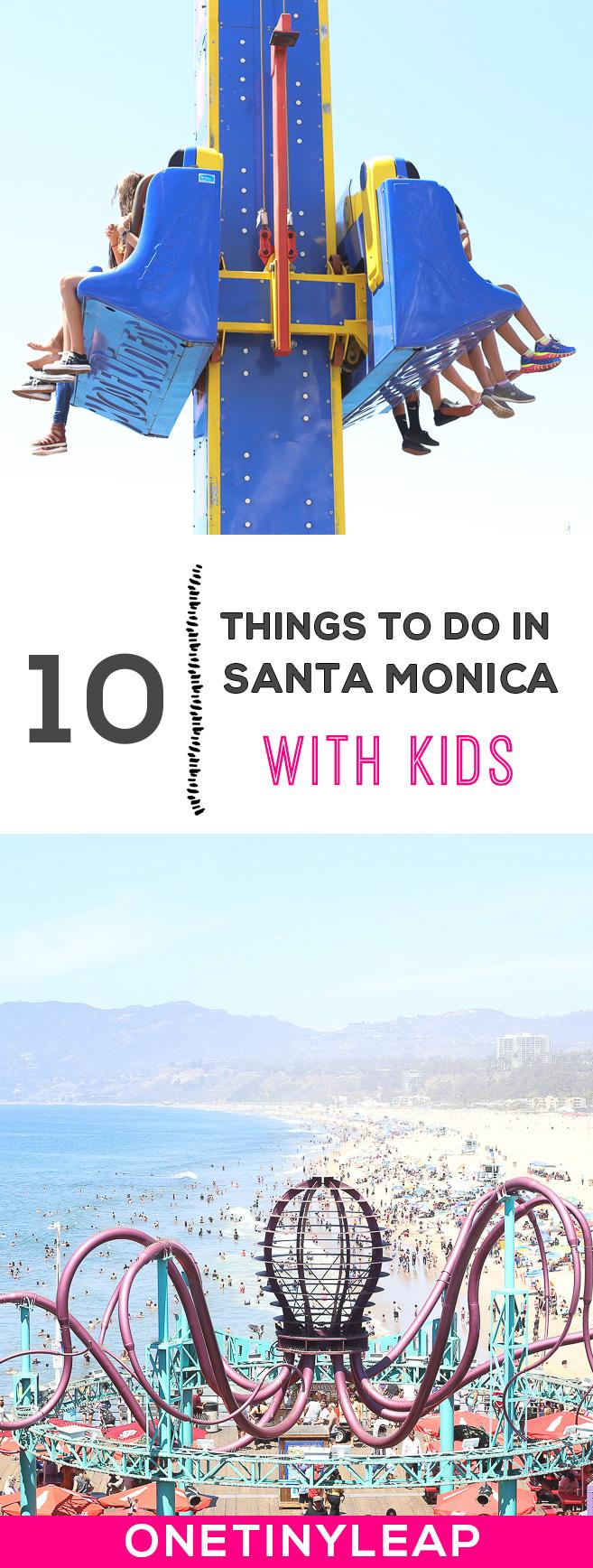 santa monica with kids