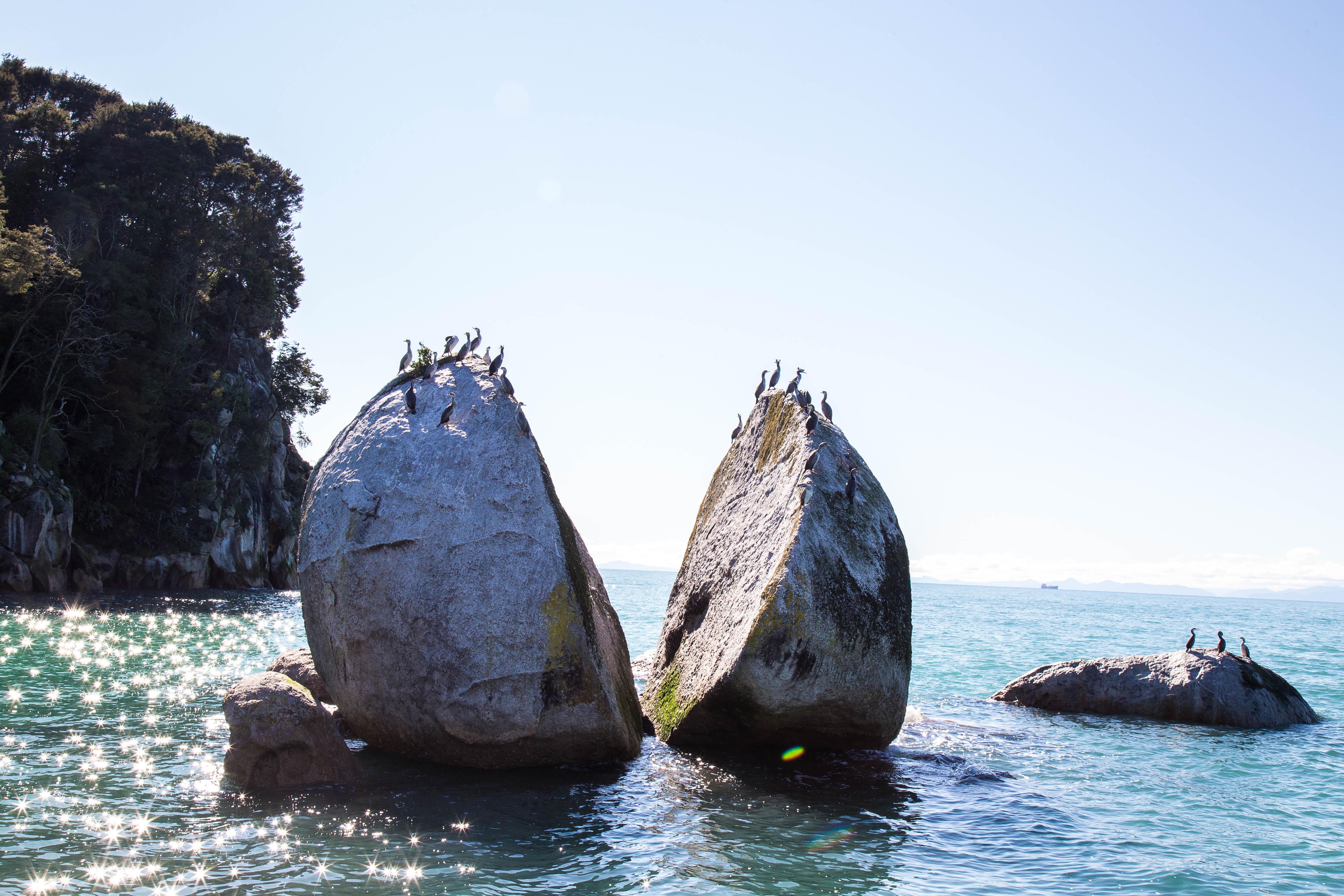 split apple rock Abel Tasman National Park