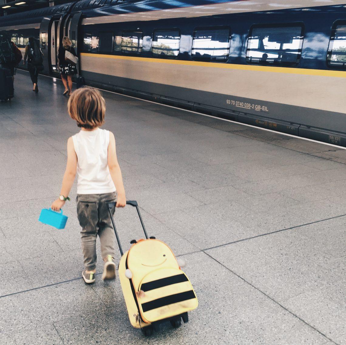 Train travel with kids Eurstar