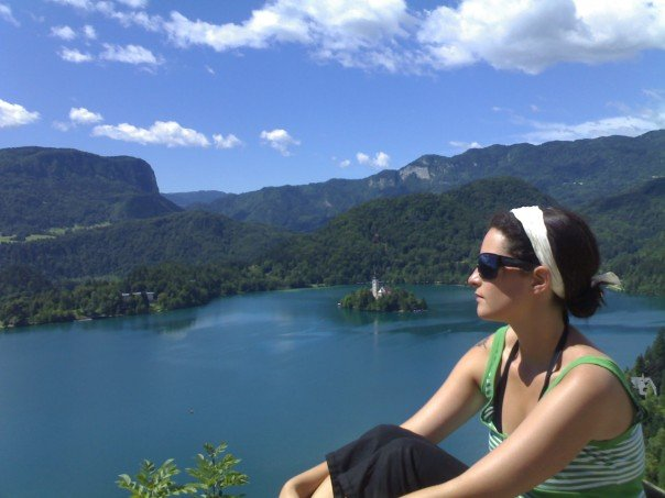 A very young me on my first trip to Bled!